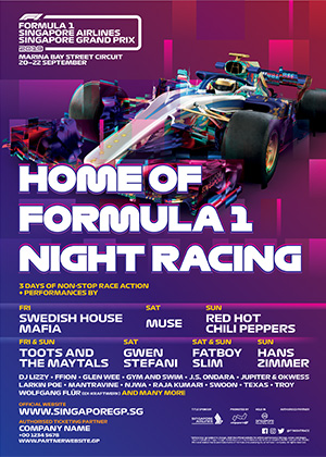 Official Ticket | FORMULA 1 SINGAPORE AIRLINES SINGAPORE